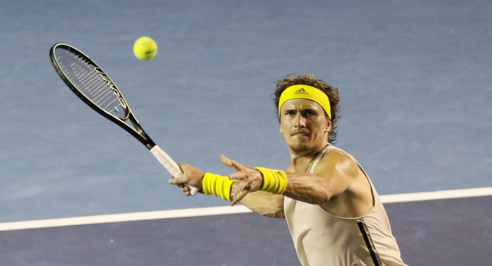 Tennis - ATP 500 - Mexican Open - The Fairmont Acapulco Princess, Acapulco, Mexico - March 19, 2021 Germany's Alexander Zverev in action during his semi final match against Germany's Dominik Koepfer