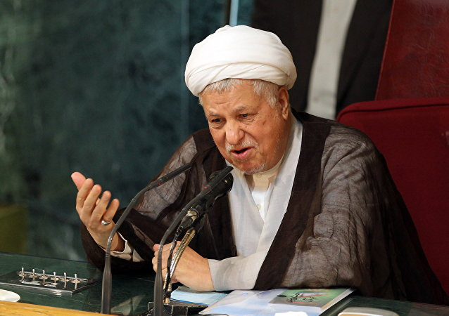 Former Iranian president and head of Iran's Assembly of Experts, Akbar Hashemi Rafsanjani, delivering a speech during a meeting of the top clerical body in Tehran. (File)