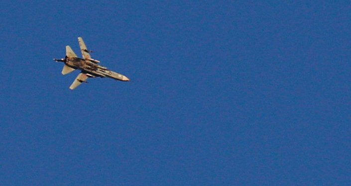 A war jet flies above Syria near the Israeli Syrian border as it is seen from the Israeli-occupied Golan Heights, Israel July 23, 2018