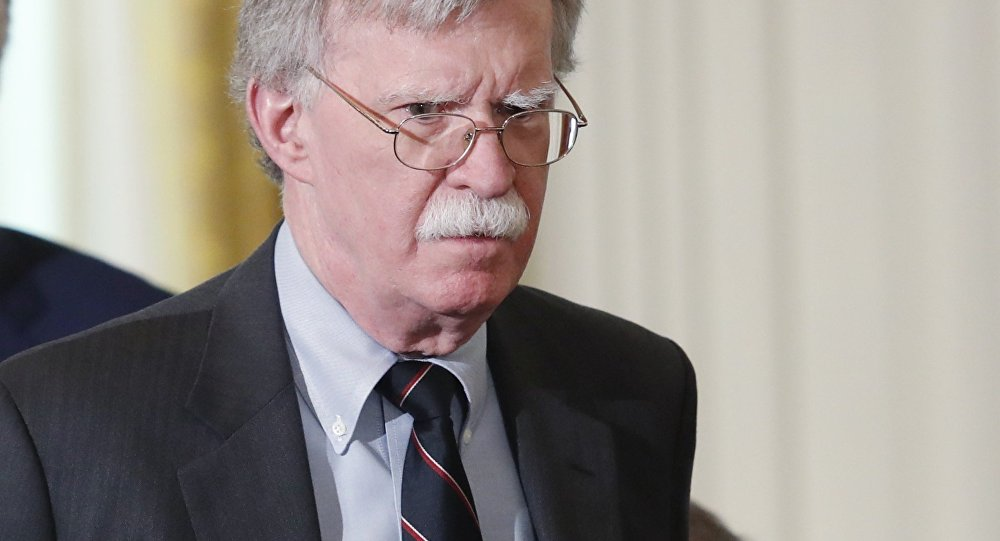 National security adviser John Bolton arrives for a joint news conference between U.S. President Donald Trump and Germany's Chancellor Angela Merkel in the East Room of the White House in Washington, U.S., April 27, 2018